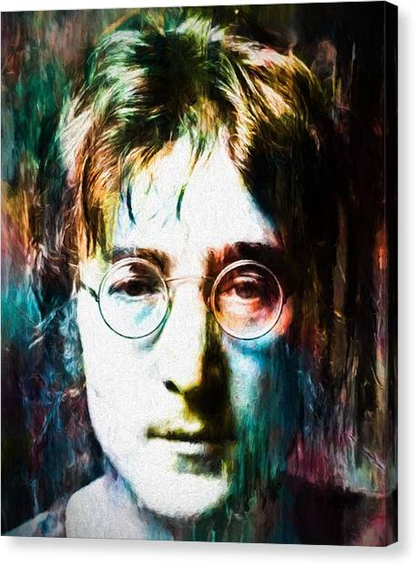 Yoko Ono Canvas Print - Lennon Tribute by Dan Sproul