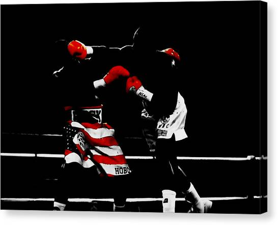 Joe Frazier Canvas Print - Lennox Lewis by Brian Reaves