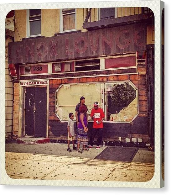 Harlem Canvas Print - Lennox Lounge - Hangout Of by Alexis Fleisig