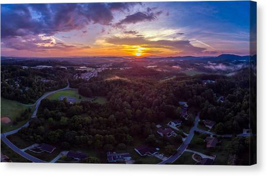 Lenoir North Carolina  Sunset Canvas Print
