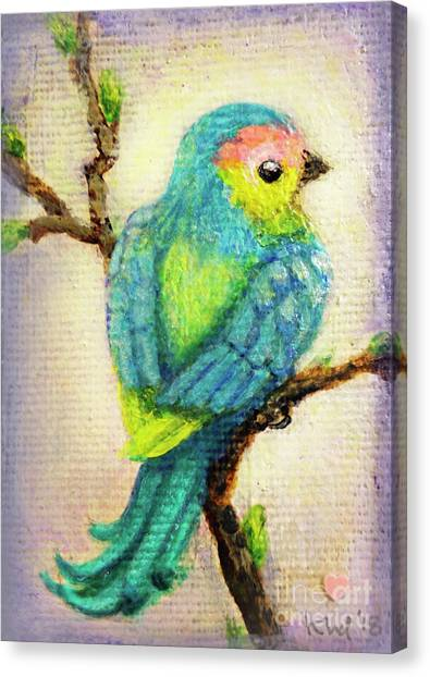 Canvas Print - Lenten Love Bird by Kato D