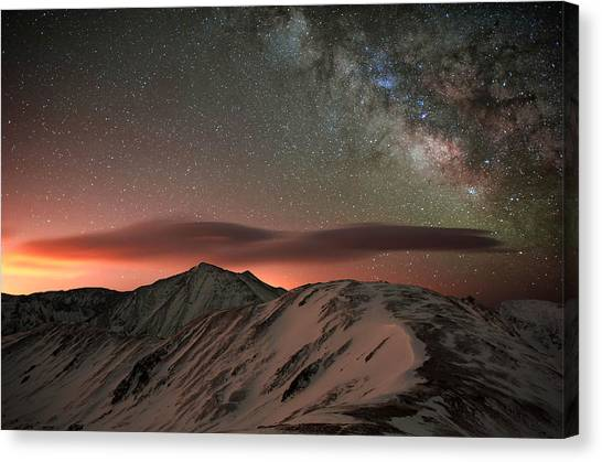 All Star Canvas Print - Lenticular Mountain Milky Way by Mike Berenson