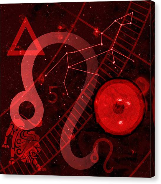 Astrology Canvas Print - Leo by JP Rhea