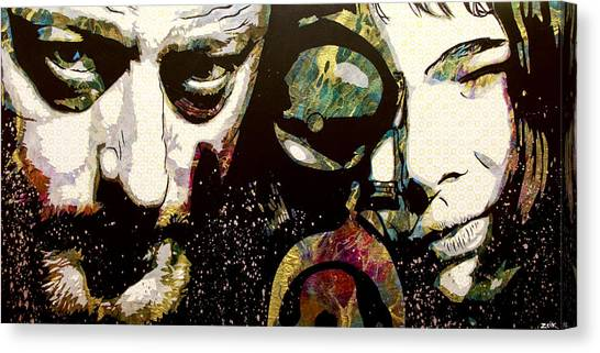 Pulp Fiction Canvas Print - Leon And Mathilda by Bobby Zeik