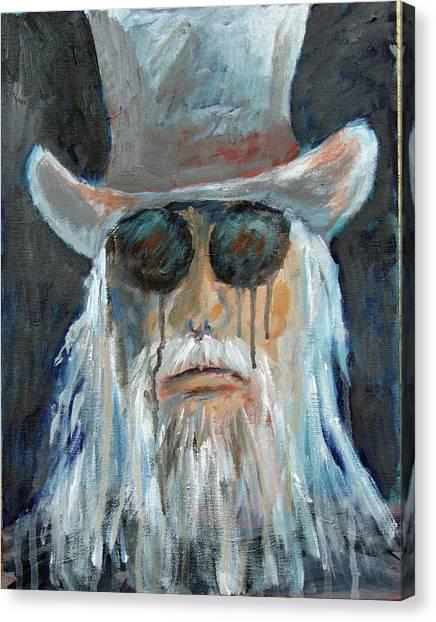Leon Russell Canvas Print - Leon by JOANNE McCubrey