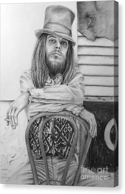 Leon Russell Canvas Print - Leon Russell by Beth Hubbard