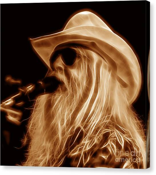 Leon Russell Canvas Print - Leon Russell Collecton by Marvin Blaine