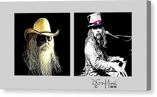 Leon Russell Canvas Print - Leon Russell by Dave Gafford