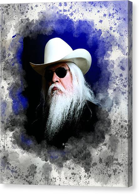 Leon Russell Canvas Print - Leon Russell by Karl Knox Images