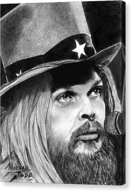 Leon Russell Canvas Print - Leon Russell  by Michael Todd