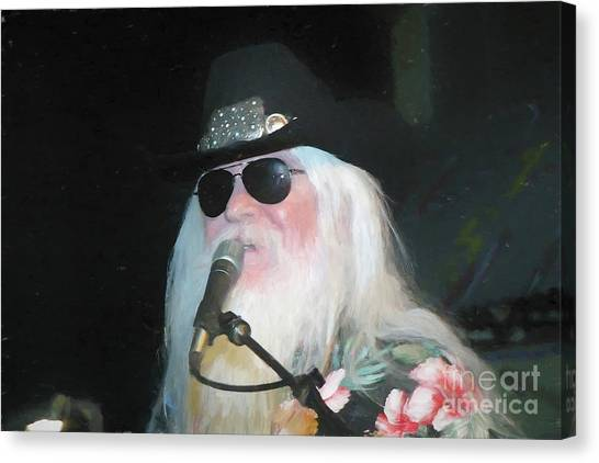 Leon Russell Canvas Print - Leon Russell Painting by Concert Photos