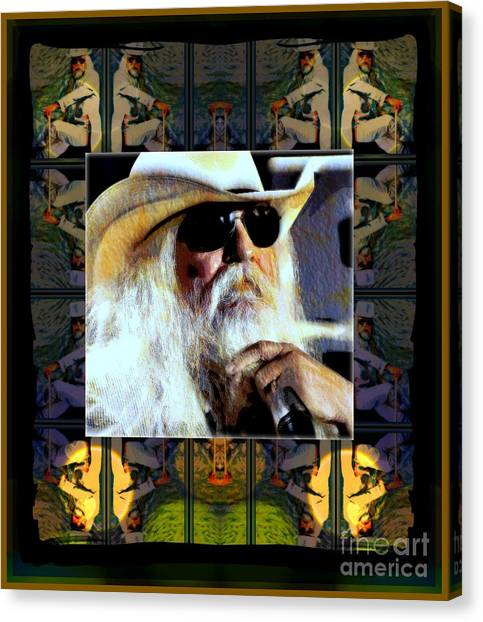 Leon Russell Canvas Print - Leon Russell Rip by Wbk