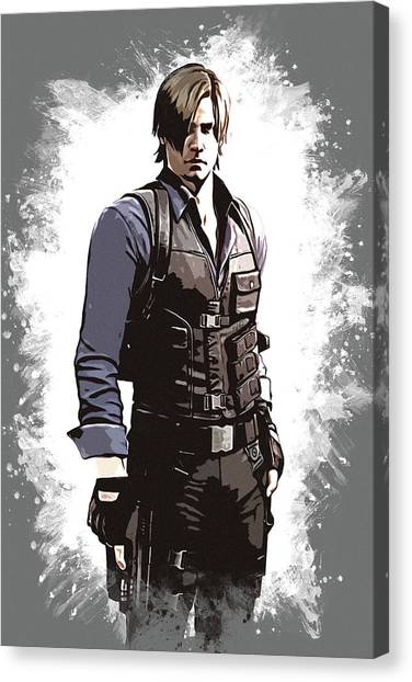 Video Games Canvas Print - Leon S. Kennedy by Dusan Naumovski