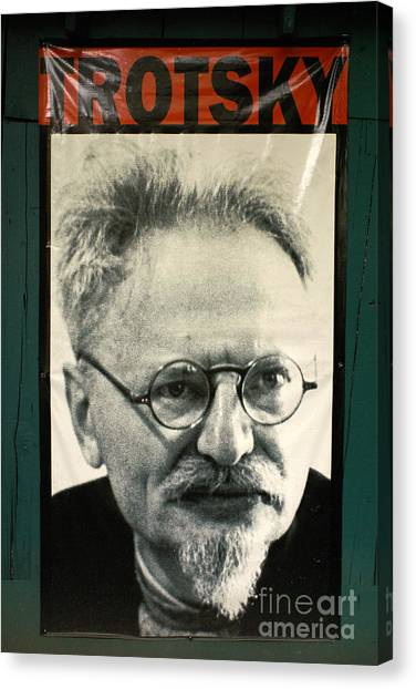 Leon Trotsky Poster Mexico City Canvas Print