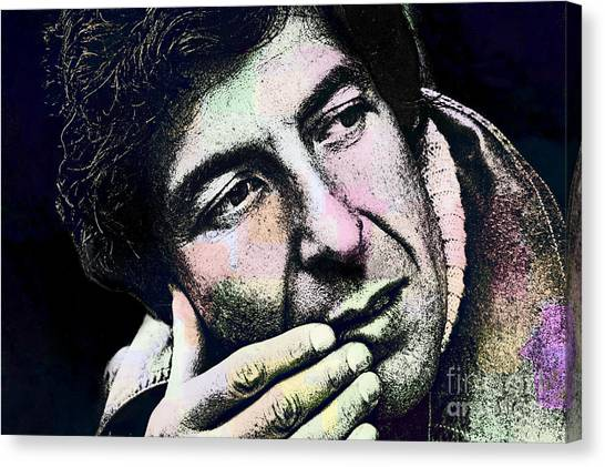 Leonard Cohen - Drawing Tribute Canvas Print