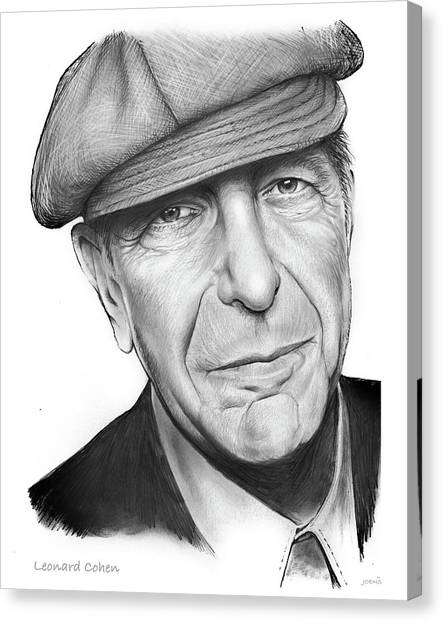 Canada Canvas Print - Leonard Cohen by Greg Joens