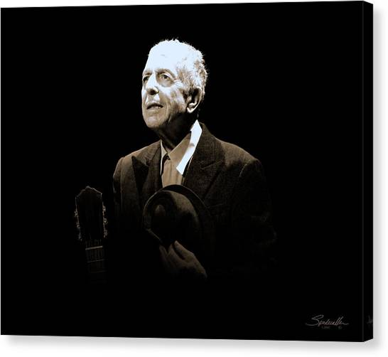 Portrait Of Leonard Cohen Canvas Print