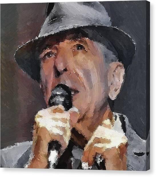 Leonard Cohen Tribute 2 Canvas Print