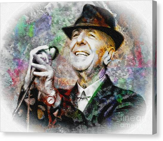 Leonard Cohen - Tribute Painting Canvas Print