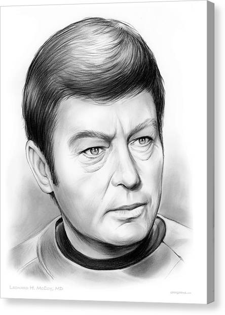 Starship Enterprise Canvas Print - Leonard Mccoy by Greg Joens