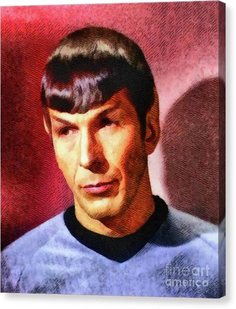 Spock Canvas Print - Leonard Nimoy, Actor by John Springfield