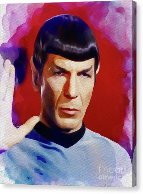 Spock Canvas Print - Leonard Nimoy As Spock by John Springfield