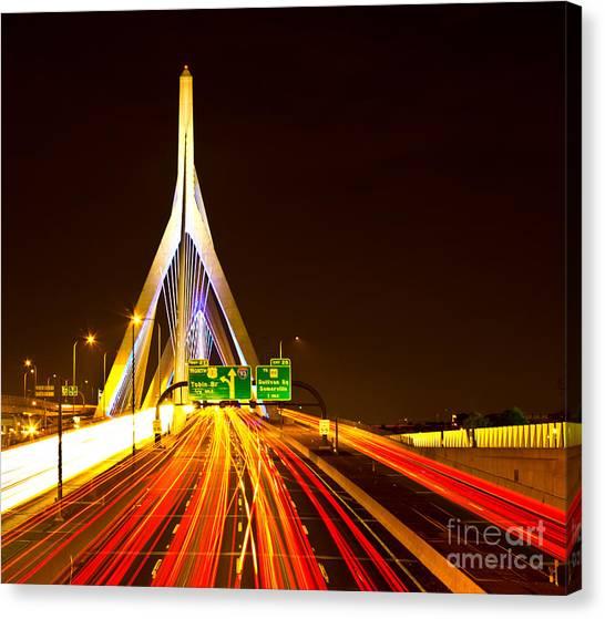 Leonard P. Zakim Bunker Hill Bridge  Canvas Print