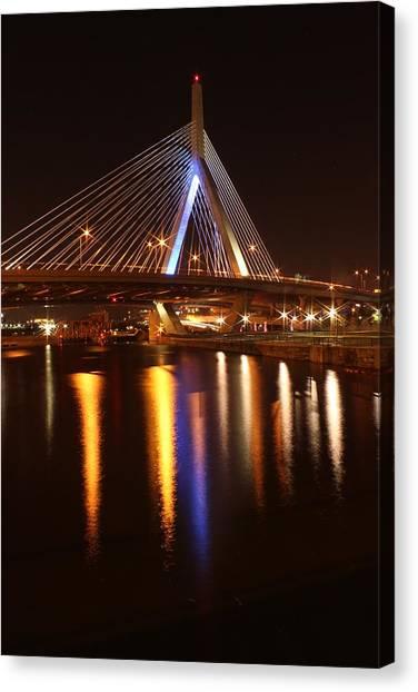 Leonard P. Zakim Bunker Hill Bridge Reflection 2 Canvas Print