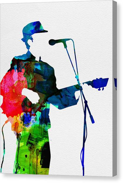 Classical Guitars Canvas Print - Leonard Watercolor by Naxart Studio
