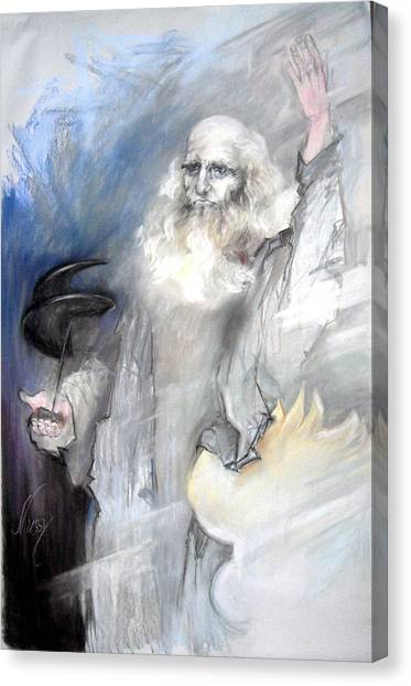 Leonardo And The Carabinieri Canvas Print by Elisabeth Nussy Denzler von Botha