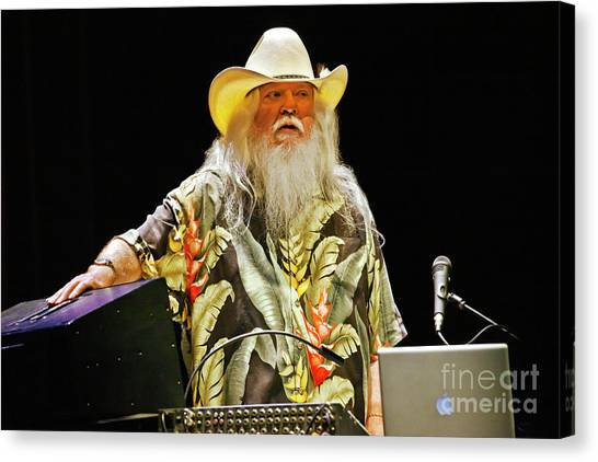Leon Russell Canvas Print - Leon_russell_d532 by Craig Lovell