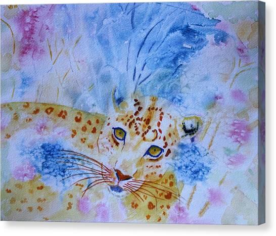Leopard Hide And Seek Canvas Print