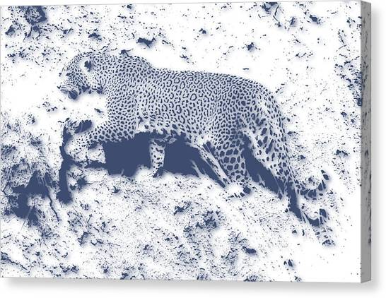 Mount Kilimanjaro Canvas Print - Leopard5 by Joe Hamilton