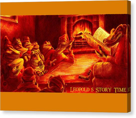 Fire Ball Canvas Print - Leopold's Storytime by Martin Williams