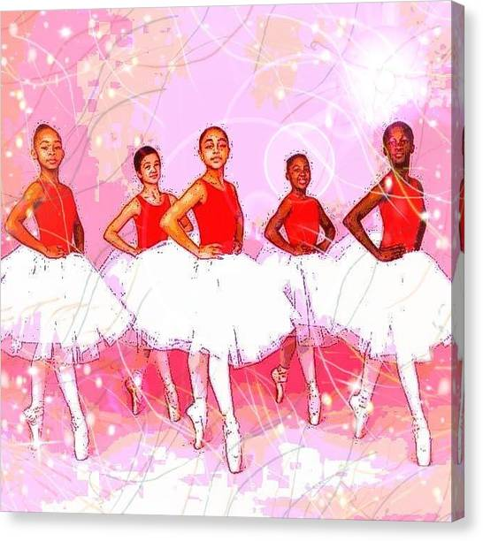 Les Danseurs Noirs Canvas Print