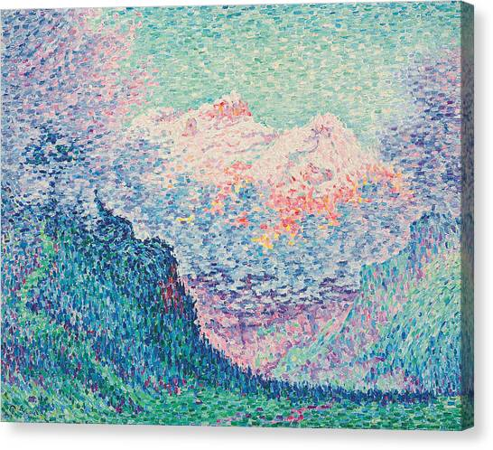Pointillism Canvas Print - Les Diablerets by Paul Signac