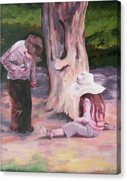 Les Enfant Aux Parc Mattisse Canvas Print