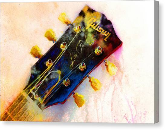 Guitar Canvas Print - Les Is More by Andrew King