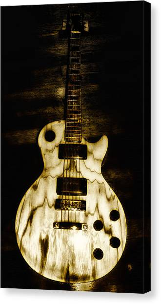 Music Canvas Print - Les Paul Guitar by Bill Cannon