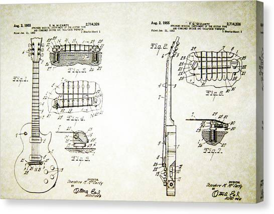 Les Paul Guitar Patent 1955 Canvas Print
