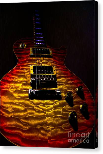 Guitar Custom Quilt Top Spotlight Series Canvas Print