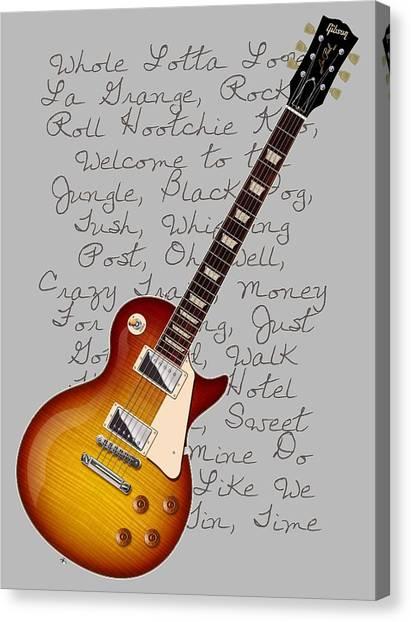 Les Paul Songs T-shirt Canvas Print