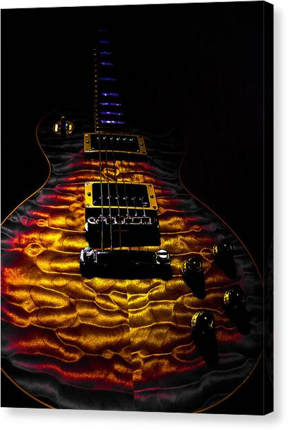 Tri-burst Quilt Top Guitar Spotlight Series Canvas Print