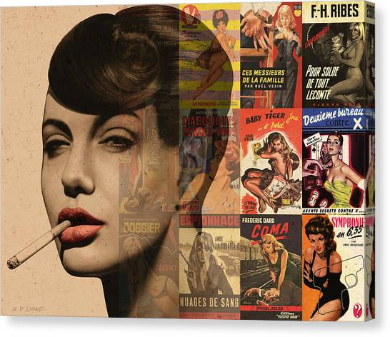 Les Pulps Francaises Canvas Print