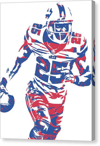 Buffalo Bills Canvas Print - Lesean Mccoy Buffalo Bills Pixel Art 10 by Joe Hamilton