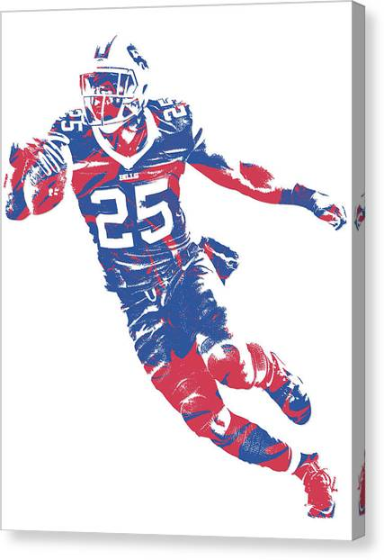Buffalo Bills Canvas Print - Lesean Mccoy Buffalo Bills Pixel Art 11 by Joe Hamilton