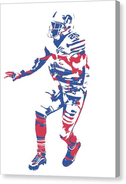Buffalo Bills Canvas Print - Lesean Mccoy Buffalo Bills Pixel Art 12 by Joe Hamilton