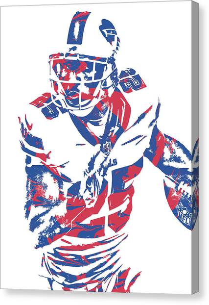 Buffalo Bills Canvas Print - Lesean Mccoy Buffalo Bills Pixel Art 13 by Joe Hamilton