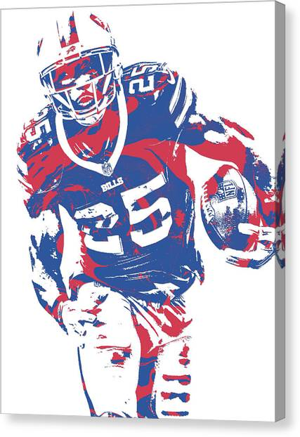 Buffalo Bills Canvas Print - Lesean Mccoy Buffalo Bills Pixel Art 20 by Joe Hamilton
