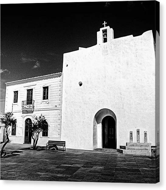 Amazing Canvas Print - Fortified Church, Formentera by John Edwards